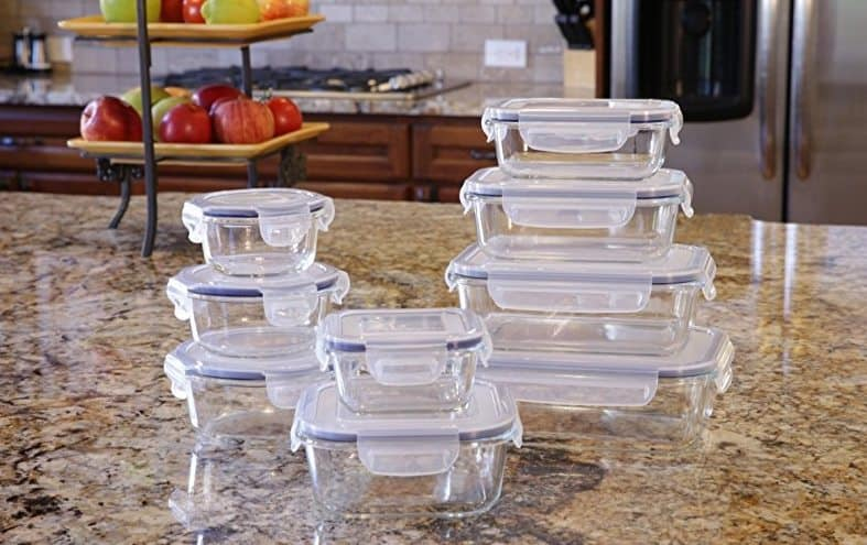 18 Piece Glass Food Storage Container Set $23.79 **Today Only**