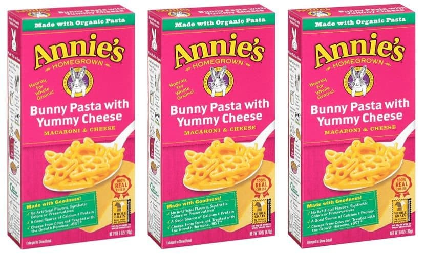 Annie's Macaroni and Cheese Bunny Pasta with Yummy Cheese (Pack of 12) $6.29 **Only 52¢ Per Box**