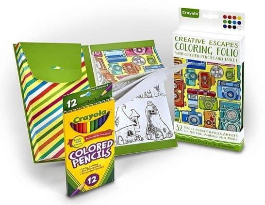 Crayola Creative Escapes Coloring Folio w/Pencils $4.42