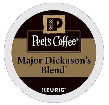 Peet's Coffee Major Dickason's Blend Dark Roast 32ct K-Cup Packs Only $16.49