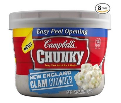 Campbell's Chunky Soup New England Clam Chowder 8-Pack $8.37 **Only $1.05 Each Shipped**