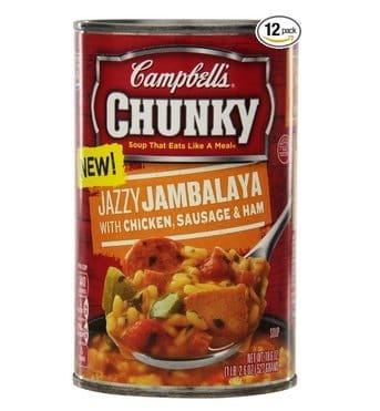 Campbell's Chunky Soup Jazzy Jambalaya with Chicken, Sausage & Ham 12-Pack $14.25 **$1.19 Each Shipped**