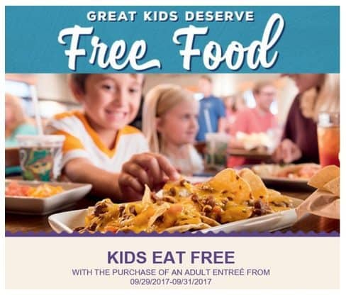 On The Border: Kids Eat Free This Weekend