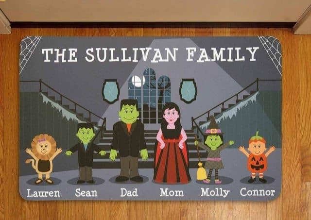 Personalized Spooky Family Halloween Doormat $11.95