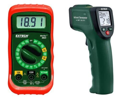 Extech MN25 MiniTec Digital MultiMeter Only $10.99 ~ Extech Infrared Thermometer $19.99 **Today Only**
