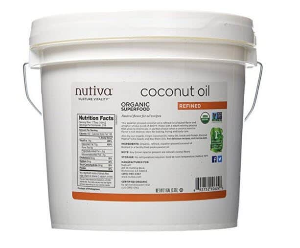 1 Gallon of Nutiva Organic Coconut Oil ONLY $18.79 Shipped