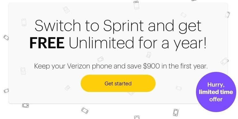 FREE Unlimited Data, Talk and Text for 1 Year When You Switch to Sprint **HOT**