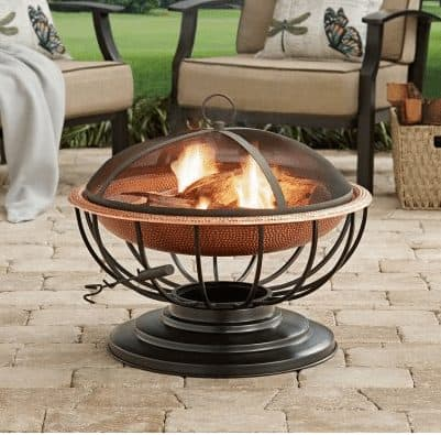 Hammered Copper Fire Pit with Tabletop ONLY $55.44 (Was $250)