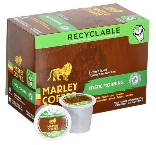 Marley Coffee Mystic Morning Medium Roast 24 Count K-Cups $10.60 Shipped