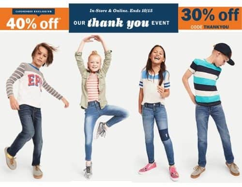 Old Navy Jeans Deals - Additional 40% Code - Boys Jeans as low as $6.96
