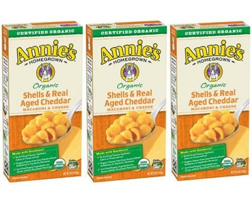 Annie's Organic Shells & Aged Cheddar Macaroni & Cheese (Pack of 12) $5.28 **Only 44¢ Per Box**