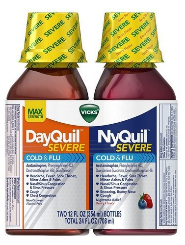 Vicks NyQuil and DayQuil Severe Cough Cold and Flu Relief Liquid $10.97