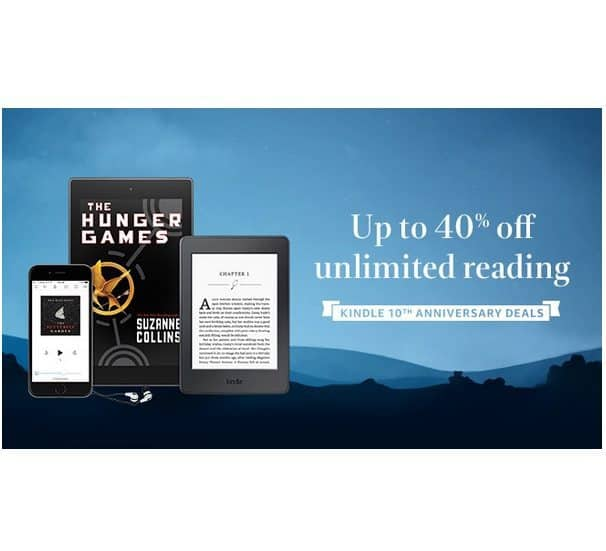 Up to 40% Off Kindle Unlimited **as low as $5.99 Per Month**