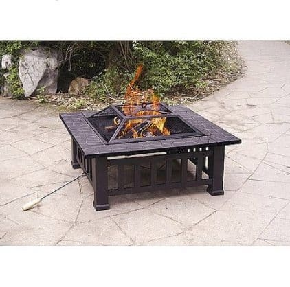 Alhambra Fire Pit with Cover $33.37 (Was $85)
