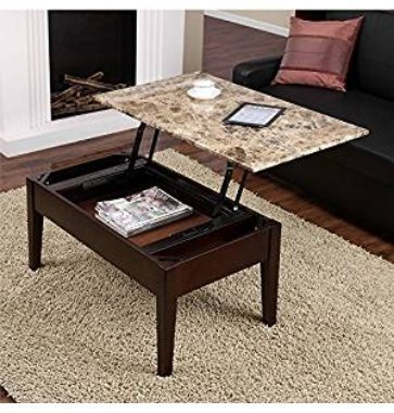 Dorel Living Faux Marble Lift Top Coffee Table $93.87