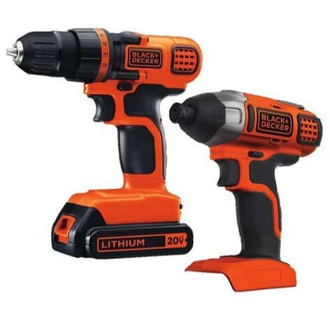 Black & Decker 20V MAX Drill/Driver Impact Combo Kit $59.99 **Today Only**