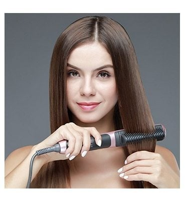 Tourmaline Ceramic Hair Straightening Brush Only $20.99