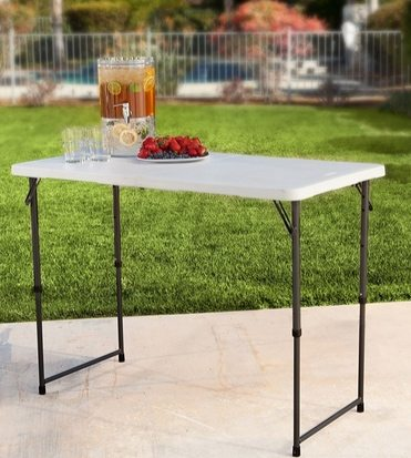 Lifetime 4′ Adjustable Folding Table $23.99 (Was $41.39)