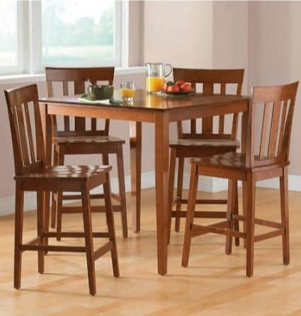 Walmart Clearance: Mainstays 5-Piece Counter-Height Dining Set $109.85