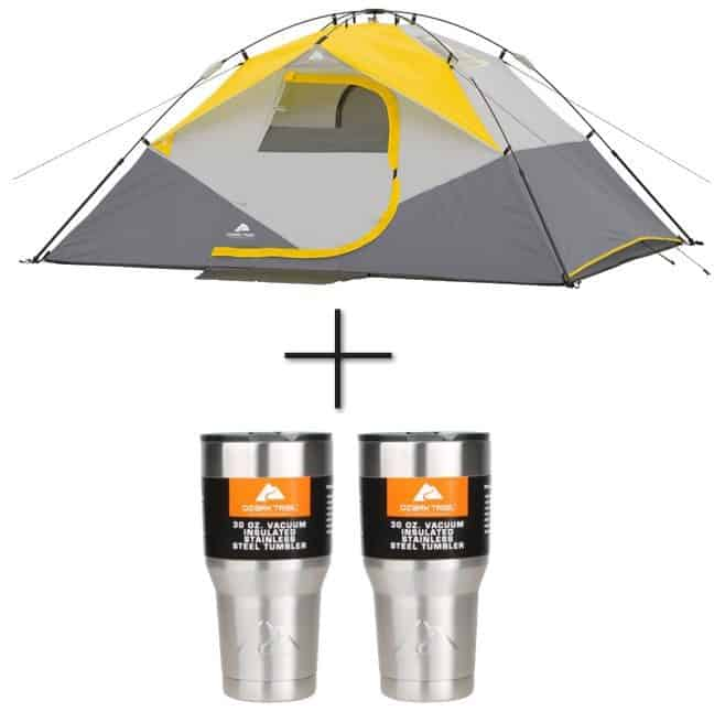 4 Person Ozark Trail Tent + 2 Tumblers $29.41**SOLD OUT**