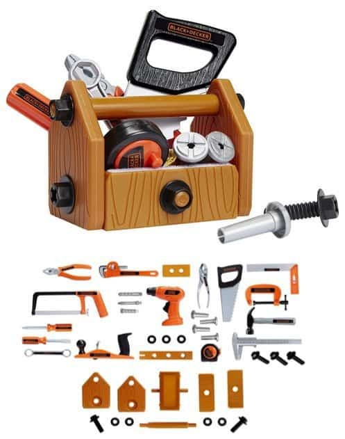 Black & Decker Junior Deluxe Tool Set with Toolbox ONLY $16.47 **42 Pieces**