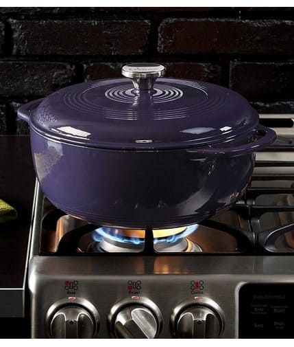 Lodge 6-Quart Enameled Cast Iron Dutch Oven Only $38.99