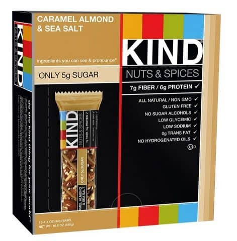 KIND Nuts & Spices Caramel Almond & Sea Salt 12-Count $10.18 Shipped **Only 85¢ per bar**