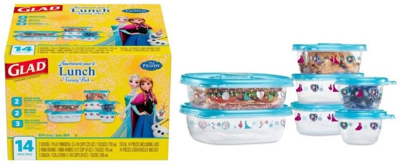 Glad 14-Piece Disney Food Storage Containers Only $3.98 (Princess, Cars & More)
