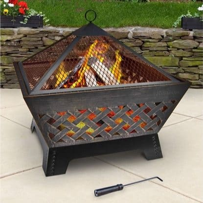 Landmann Barrone Fire Pit with Cover $51.96 (Was $160)