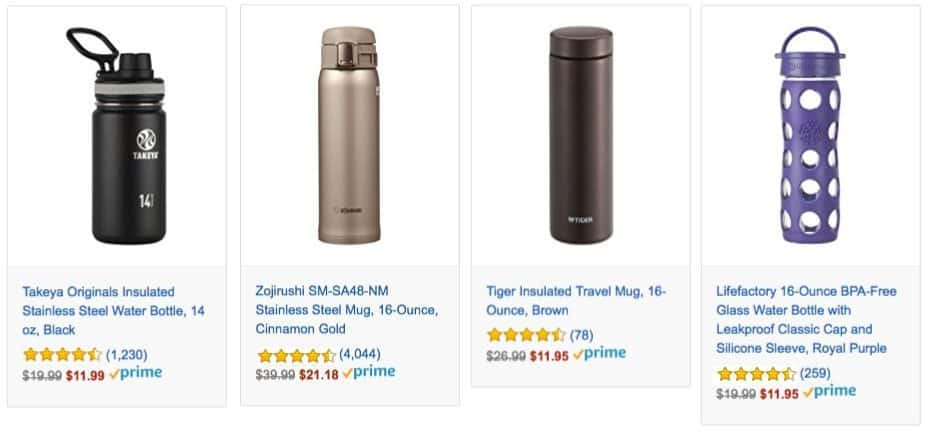 Deals on Insulated Tumblers and Beverage Bottles