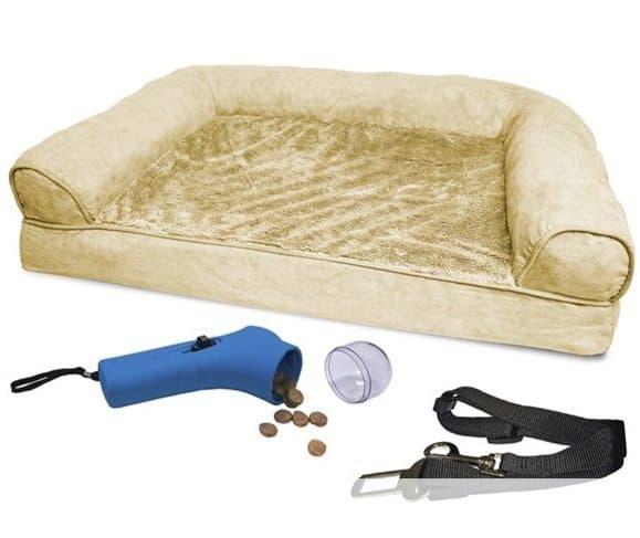 FurHaven Plush Sofa Pet Bed Bundle $8.99 (Was $110)