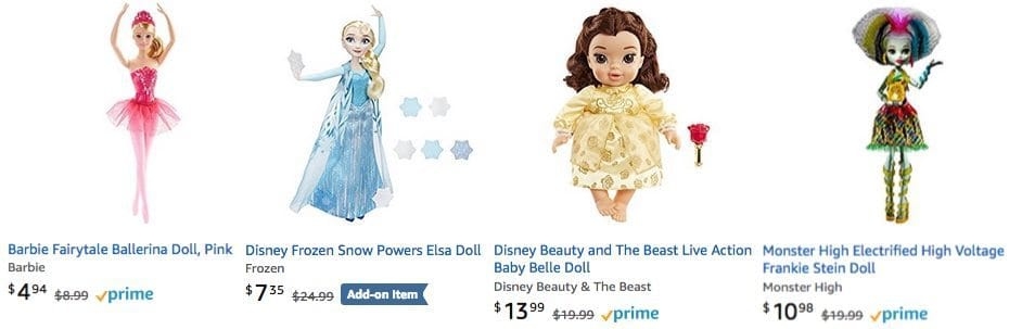 Buy 1 Get 1 50% Off Fashion Dolls ~ Barbie, Monster High, Ever After, & More ** Dolls as low as $1.94**