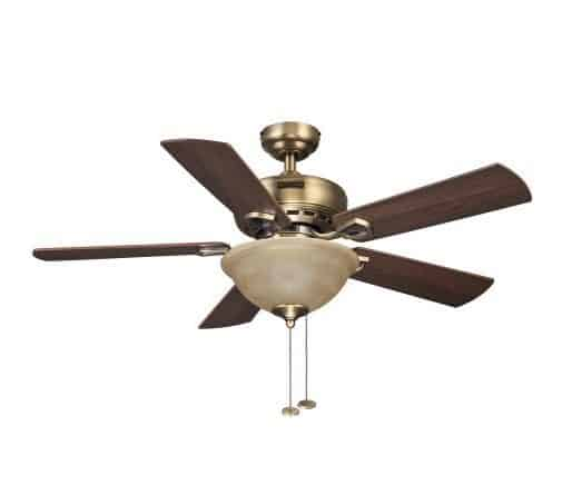 "Honeywell 44"" Blaise Antique Brass Ceiling Fan ONLY $34.11"
