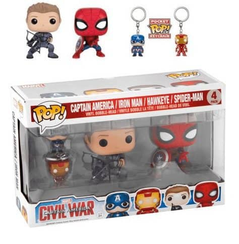 Walmart Clearance: 4-pack Funko POP! Keychains - Marvel CAP America 3 ONLY $6.93