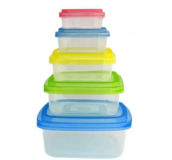 Home Collections 10 Piece Square BPA Free Storage Container Set $6.99 Shipped
