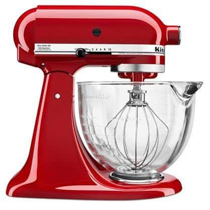 KitchenAid Mixer Deal: 5 QT. Mixer w/ Glass Bowl & Flex Edge Beater Only $175 Shipped