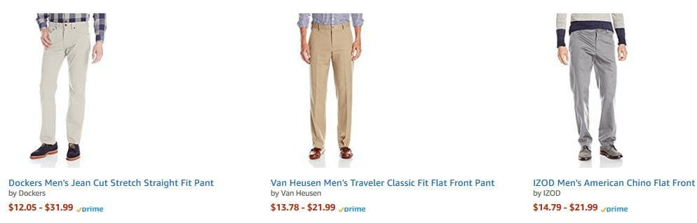 Haggar Men's Classic Fit Pleat Front Pants from $9.37