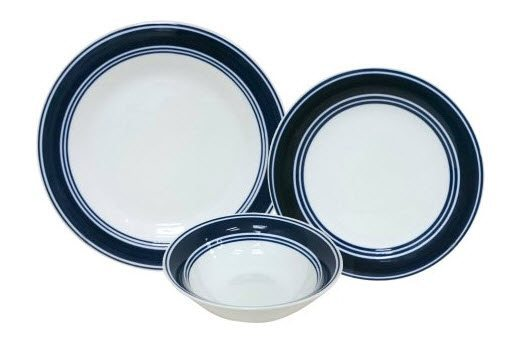 Mainstays Banded 12-Piece Dinner Set ONLY $6.43