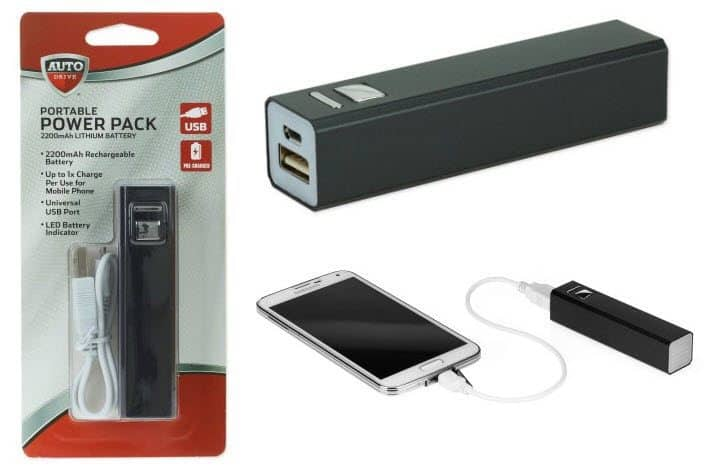 Auto Drive 2200mAh USB Portable Power Bank ONLY $3.24 *HOT*