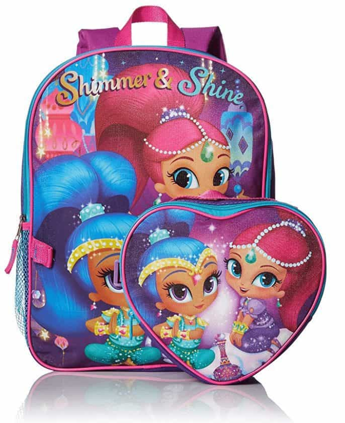 Nickelodeon Girls' Shimmer and Shine Backpack with Lunch Kit ONLY $10.51