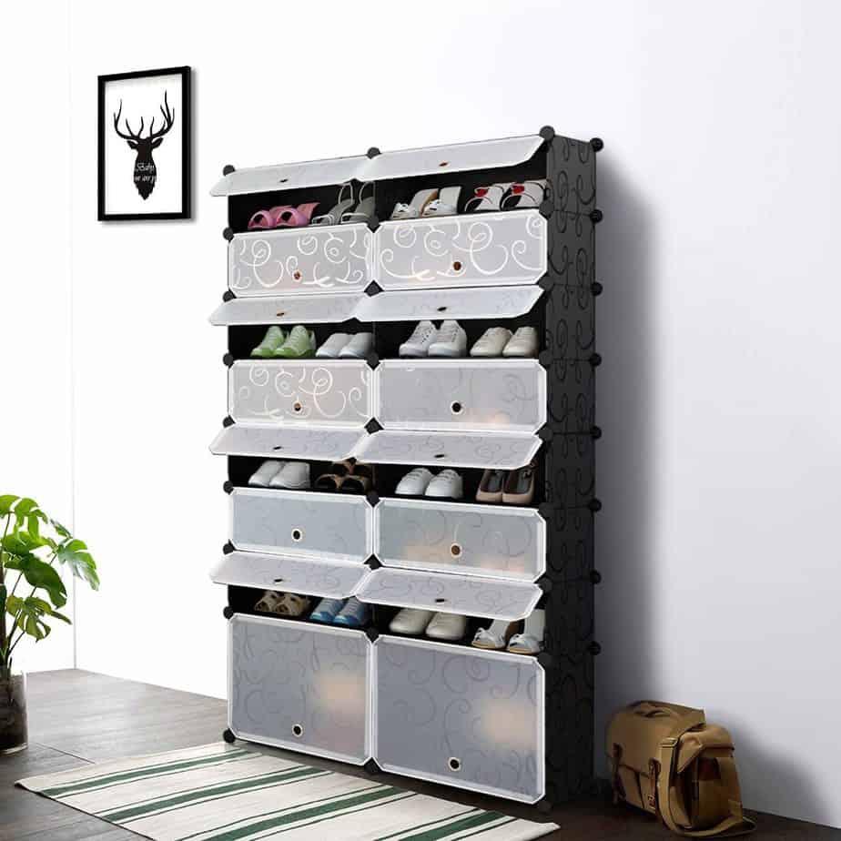 iKayaa Multi-Use 8 Layers DIY Cube Plastic Shoes Rack $45 Shipped