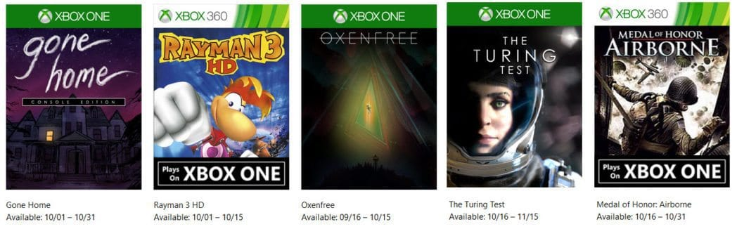 5 FREE Xbox Games Available for October