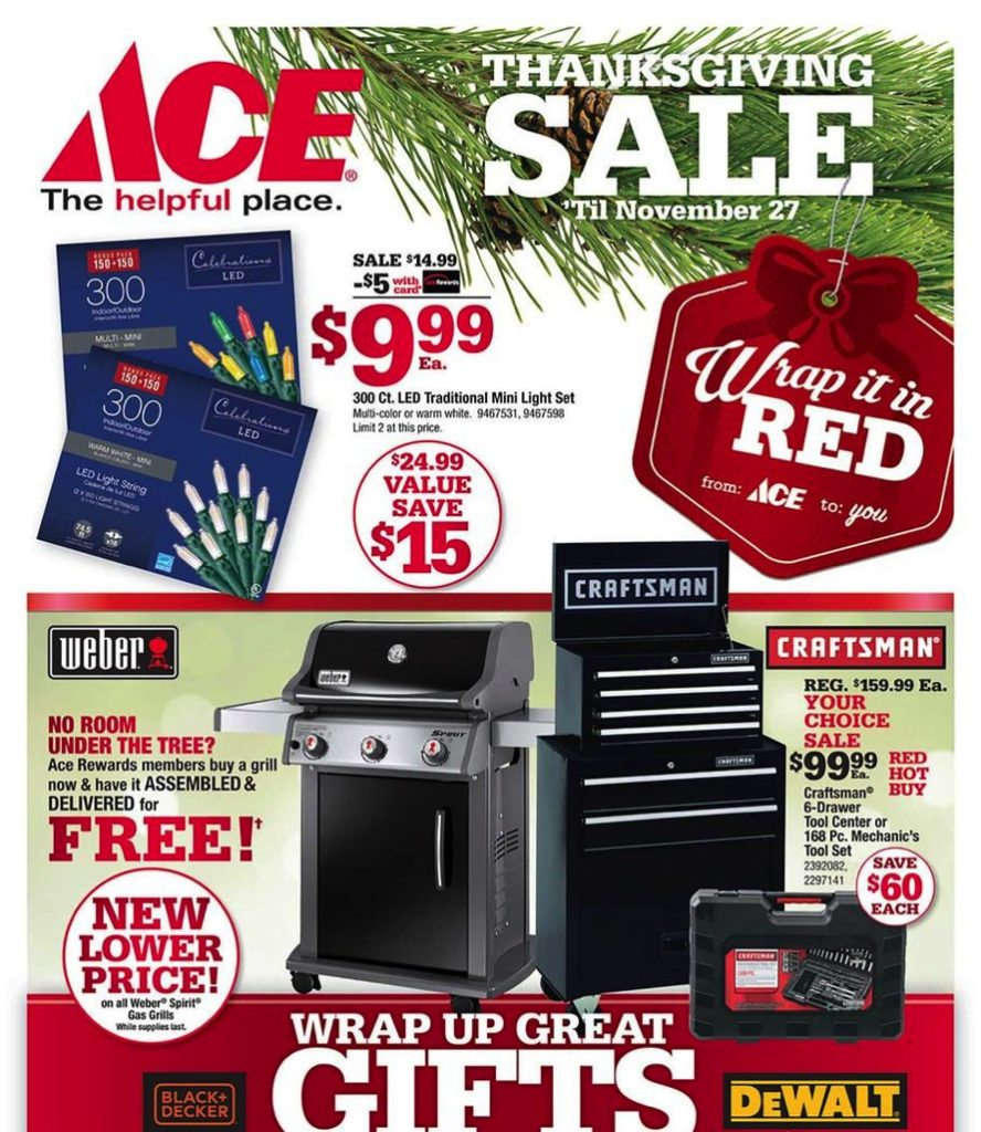 2017 Ace Hardware Black Friday Ad Scan