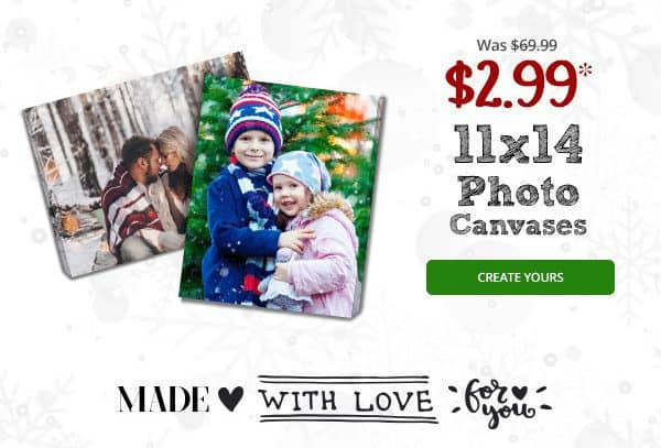 Canvas People: $1.99 Custom Photo Canvas *Great Gift Idea*