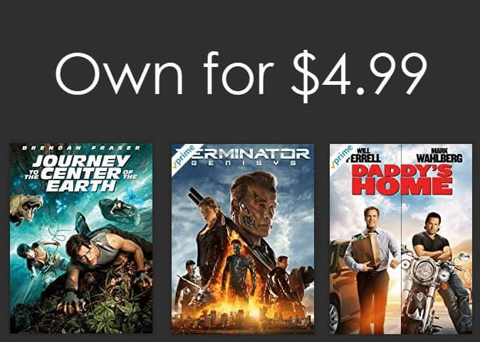 Own HD Movies on Amazon for $4.99 Each