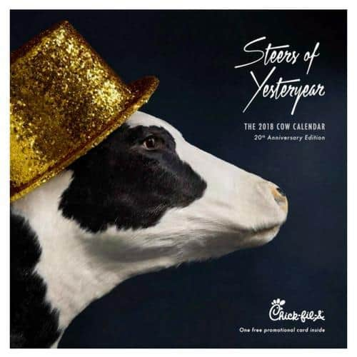 The 2018 Chick-Fil-A Cow Calendars are OUT!