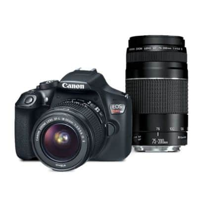 EOS Rebel T6 EF-S 18-55 with EF 75-300mm f/4-5.6 III 8 Shipped