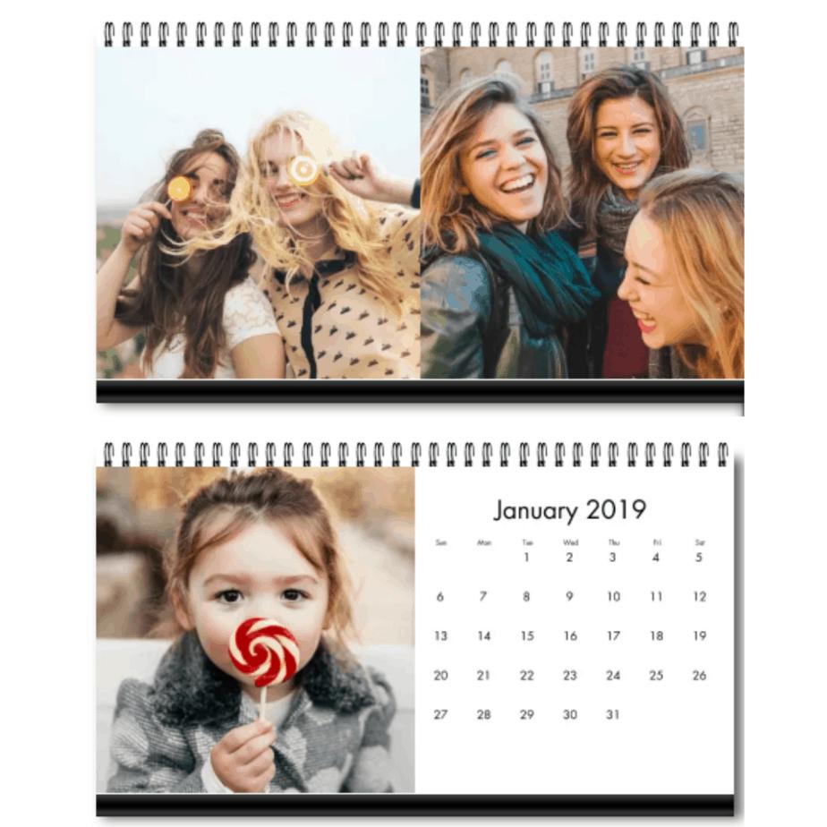4x8-inch Personalized Desktop Calendar