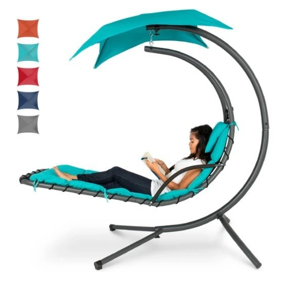 Hanging Chaise Lounger with Canopy 9.99 (Was 0)