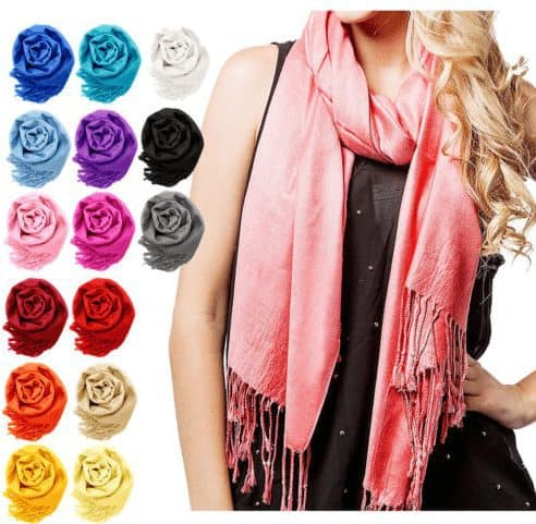 eBay Beating JCPenney's Black Friday Ad - Women Soft Silk Pashmina ONLY $4.99 Shipped
